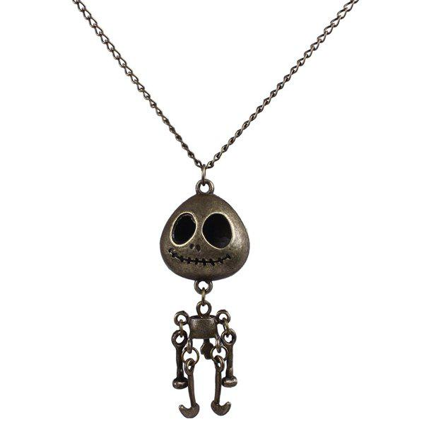 Vintage Skull Robot Sweater Chain - COPPER COLOR