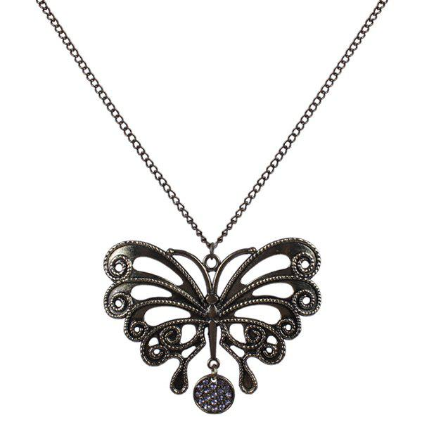 Hollowed Butterfly Sweater Chain