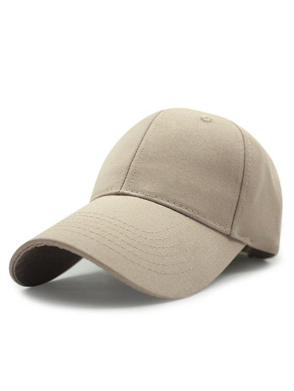 Summer Outdoor Long Brim Adjustable Buckle Sunscreen Baseball Hat - KHAKI