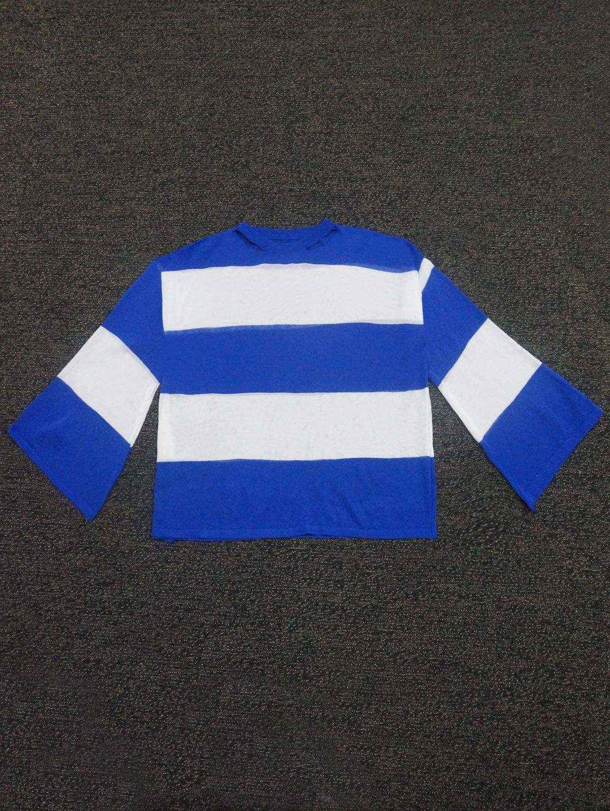 Thick Striped Color Block Cut Out Sweater 12 18 36 48colors students prize creative gifts lead free avoid cut wood thick core color pen water soluble colored pincel art