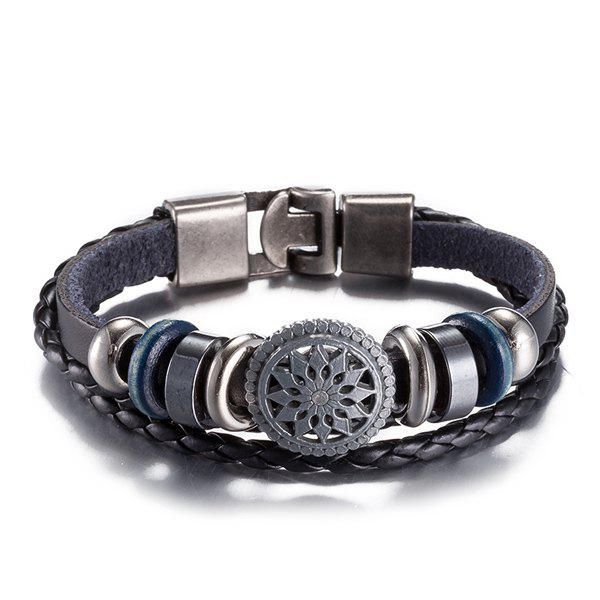 Faux Leather Woven Rope Geometric Bracelet