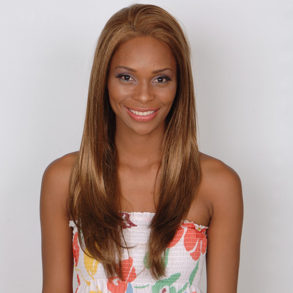Long Straight Prevailing Capless Human Hair Wig - AUBURN BROWN