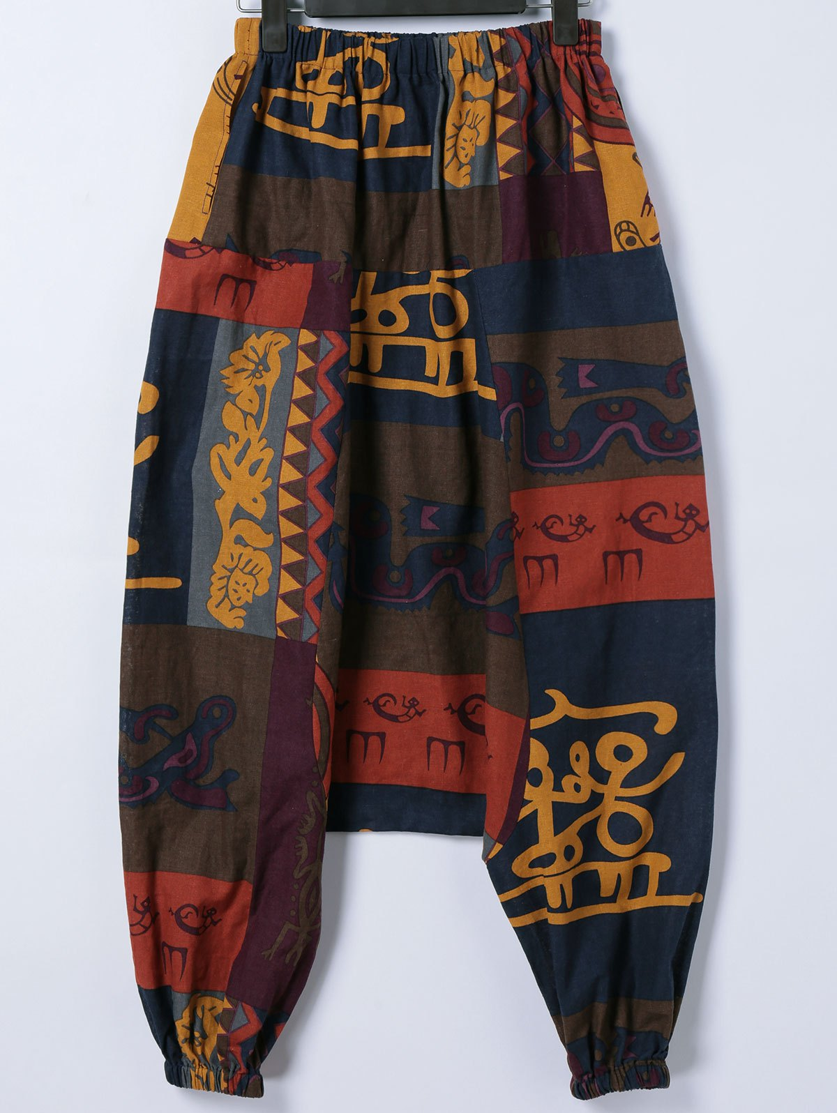 Trendy Tribal Print Cross-Pants - COLORMIX XL