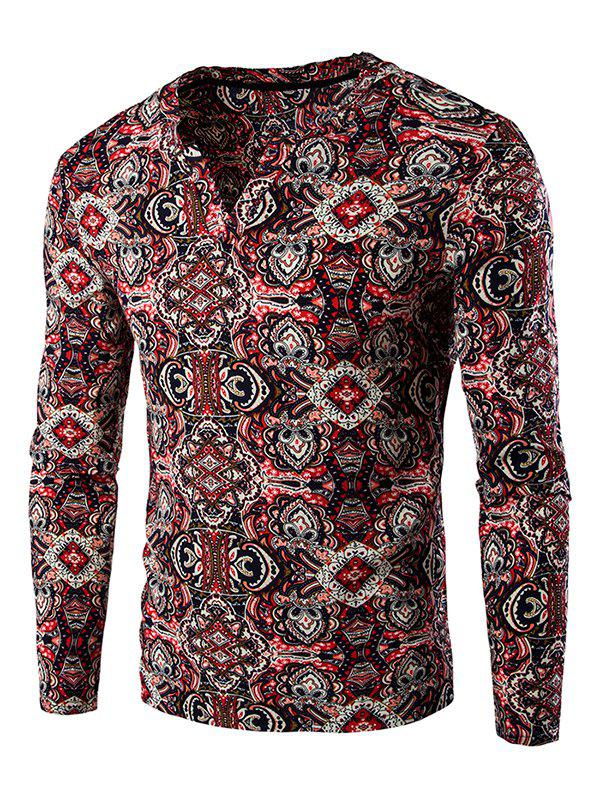 Totem Print Long Sleeves Tee new original bos 12m ps 1ya s4 c warranty for two year