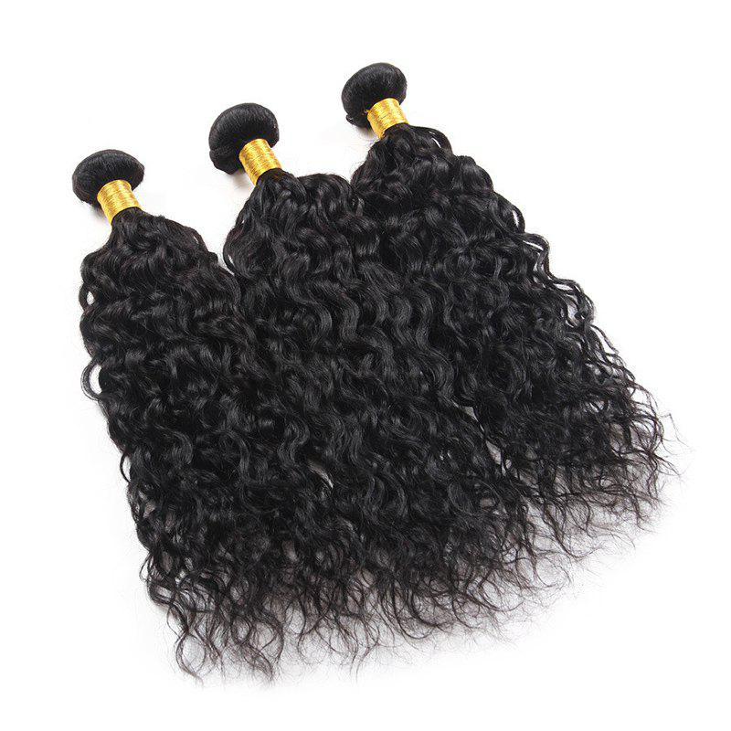 6A Virgin Hair Fluffy Natural Curly 1 Pcs/Lot Brazilian Human Hair Weaves - BLACK 12INCH