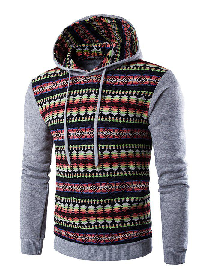 Long Sleeves Stripe Printed Hoodie