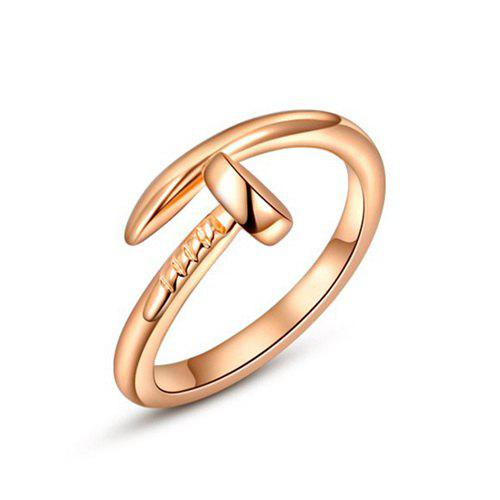 Alloy Nail Cuff Ring - GOLDEN ONE-SIZE