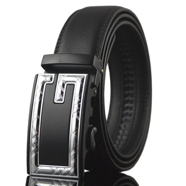 Formal Occasion Plaid Letter G Automatic Buckle Waist Belt