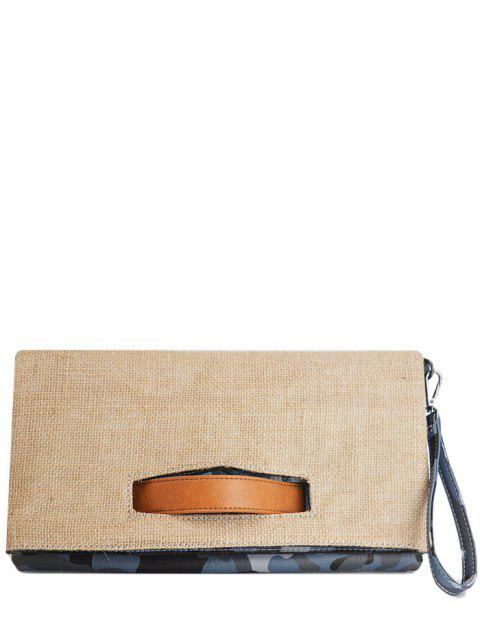 Color Block Jute Splice Pochette - Bleu
