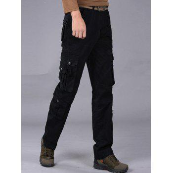 Loose-Fitting Multi-Pocket Straight Leg Cargo Pants