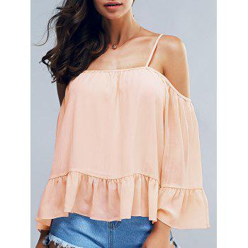 Elegant Women's 3/4 Sleeves Spaghetti Stap Blouse