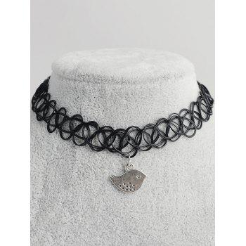 Bird Shape Hollow Out Tattoo Choker