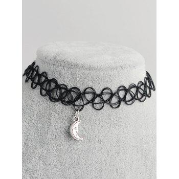 Moon Shape Hollow Out Tattoo Choker