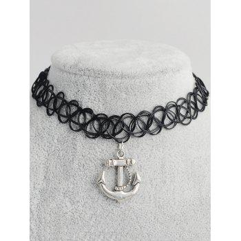 Anchor Shape Hollow Out Tattoo Choker
