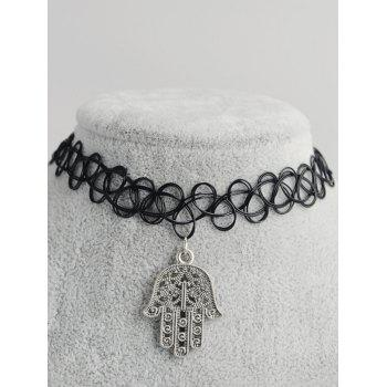 Palm Shape Hollow Out Tattoo Choker