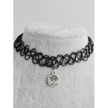 Life Tree Shape Hollow Out Tattoo Choker