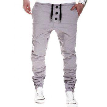Drawstring Waistband Casual Pants