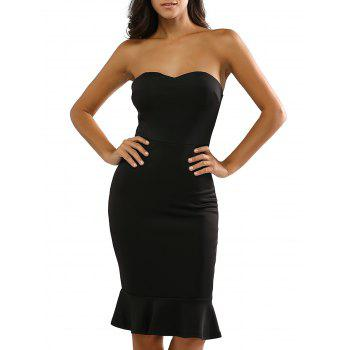Strapless Midi Bodycon Dress