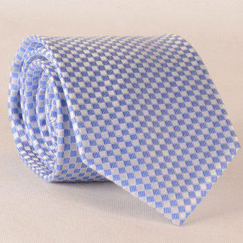 Banquet Small Checkered Jacquard 8.5CM Width Silk Tie