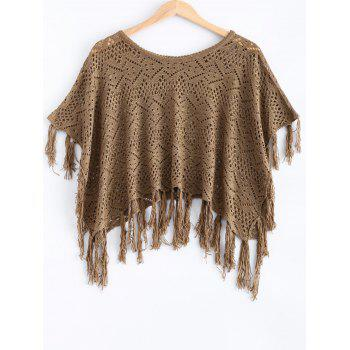 Hollow Out Fringed Loose-Fitting Knitwear
