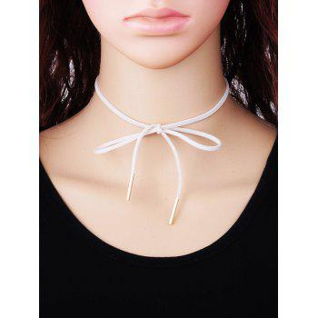 Bowknot Faux Suede Choker Necklace