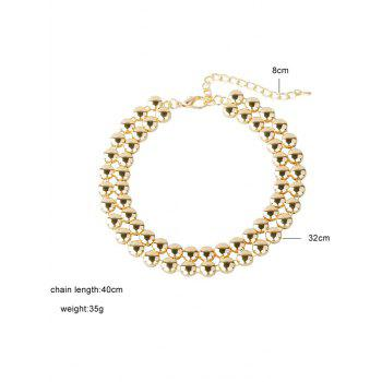 Alloy Round Choker Necklace - GOLDEN