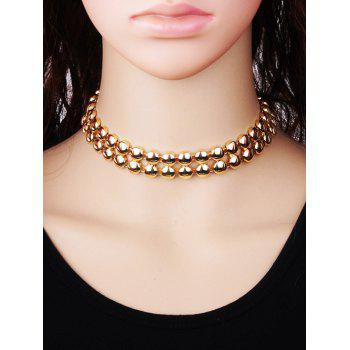 Alloy Round Choker Necklace