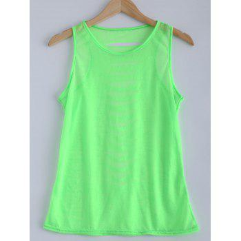 Candy Color Openwork Tank Top