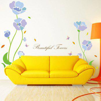 Removable Flower Plant Cabinet Window Wall Sticker