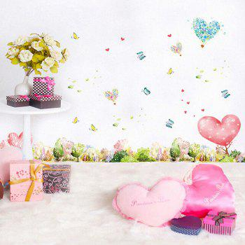 Mew Forest Heart Printed Room Decor Wall Sticker - GREEN