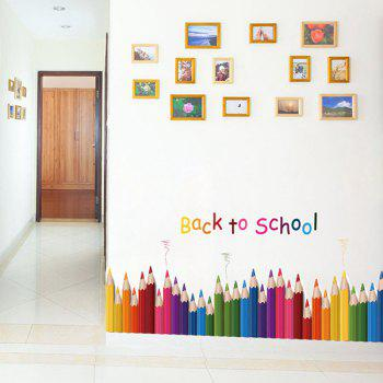 Back To School Colorful Pencil Removable Wall Sticker