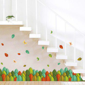 High Quality Colorful Leaves Removable Wall Art Sticker - COLORMIX