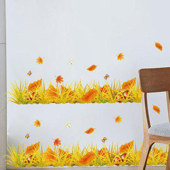Creative Furniture Fallen Leaves Removable Decorative Wall Art Sticker - COLORMIX