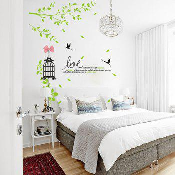 Creative Furniture Cage Removable DIY Adornment Wall Art Sticker - COLORMIX