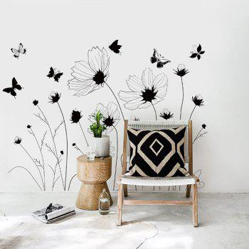 Decorative Simple Floral High Quality Removable Wall Art Sticker - INK PAINTING