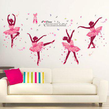 Novelty DIY Ballet Girl Removable Wall Sticker For Kids Room