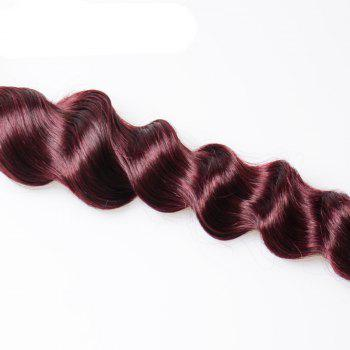 1 Piece/Lot Grade 6A Virgin Hair Shaggy Loose Wave Brazilian Human Hair Weaves - WINE RED WINE RED