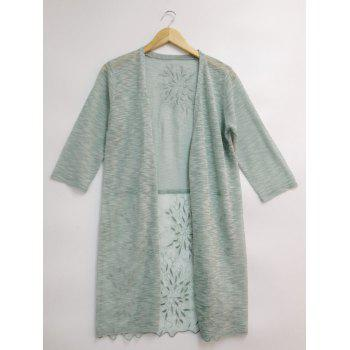 See-Through Lace Spliced Embroidery Cardigan