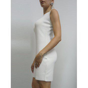 Évider Mini Robe moulante - Blanc ONE SIZE