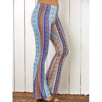 High Waist Tribal Print Flare Pants