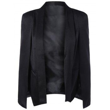 Slit Cape Sleeve Shawl Collar Blazer