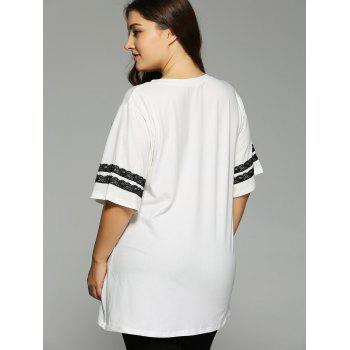 Plus Size 1/2 Sleeve Graphic T-Shirt - 4XL 4XL