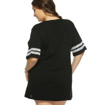 Plus Size 1/2 Sleeve Graphic T-Shirt - 3XL 3XL