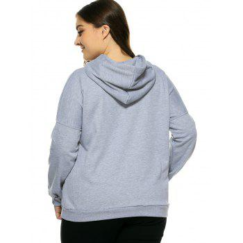 Plus Size Hooded Long Sleeve Letter Hoodie - 2XL 2XL