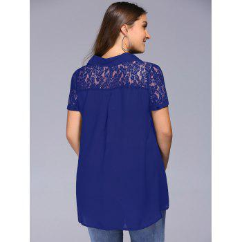 Lace Trim Plus Size Tunic Blouse - 5XL 5XL