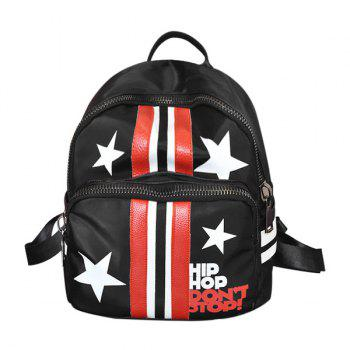 Zippers Stars Striped Backpack