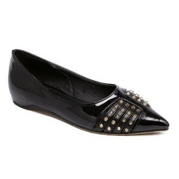 Rivet Point Toe Flat Shoes