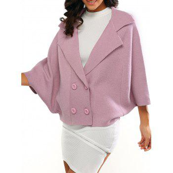 Bell Sleeves Buttoned Loose-Fitted Coat