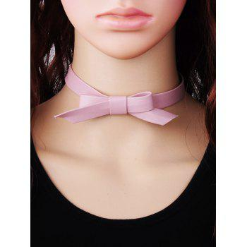 Bowknot Faux Leather Choker Necklace