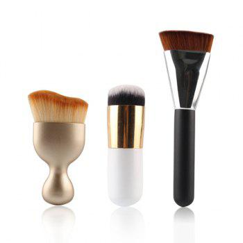 8 Pcs à double usage sec et humide Beauty Blender + S-Forme Blush Brush + Contour Brush + Foundation Brush - multicolorcolore